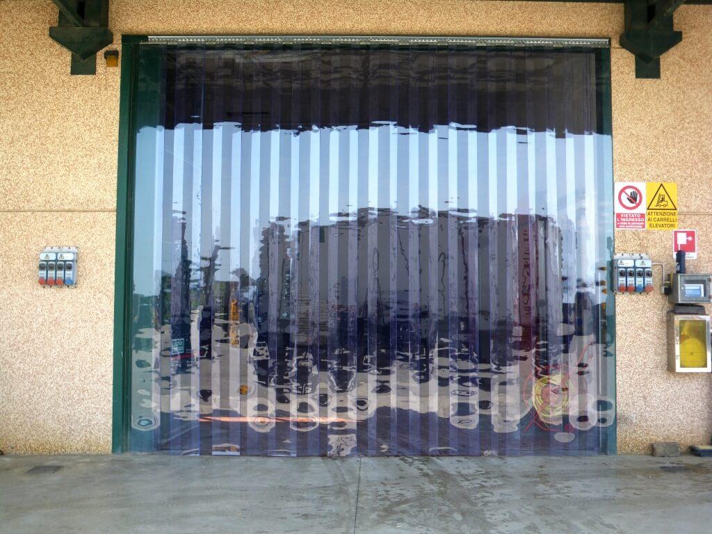 tende a strisce in pvc trasparente