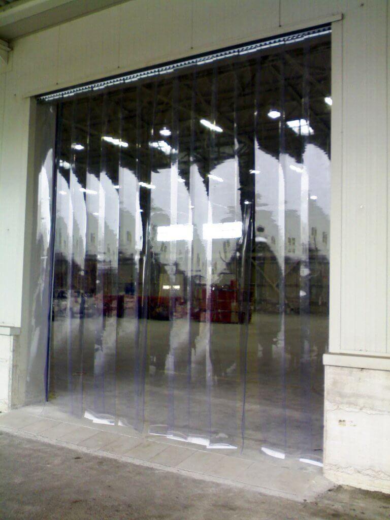 Tende di plastica trasparente